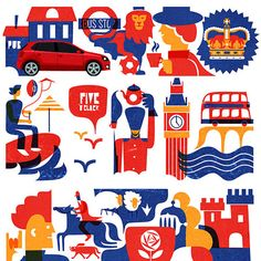VW England illustrations
