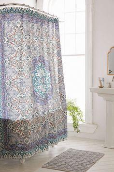 Plum & Bow Anza Tiled Medallion Shower Curtain