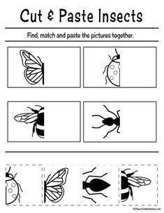 FREE Cut and Paste Worksheets for Preschool - Planes & Balloons