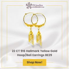 Traditionally known as 'Bali', these stunning earrings are designed in Hallmarked gold. Diamond Pendant Necklace, Gold Earrings, Drop Earrings, Jewelry Gifts, Jewellery, White Gold Jewelry, Gold Hoops, Preston, Jewelry Collection