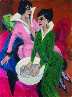Dos mujeres con aguamanil. 1913. Kirchner. Expresionismo.