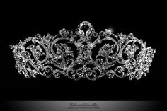 Matilda Victorian Romantic Swarovski Crystal Silver Tiara. Description: This Glamorous Vintage Victorian Tiara is created with best quality sparkling Swarovski Crystal, Filigree Design and Rhodium Pla