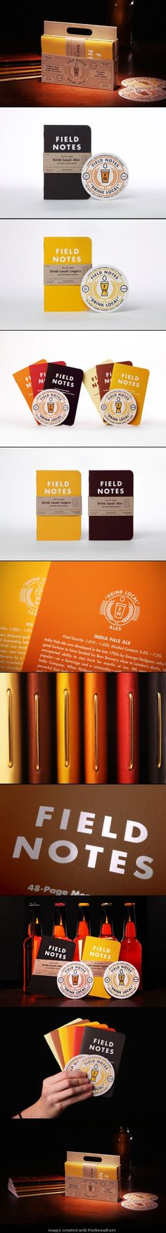 Field Notes Colors Notebook #identity #packaging #branding PD