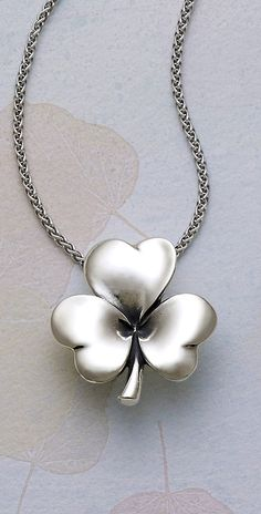Shamrock of Hearts Pendant #jamesavery #jewelry