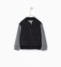 Image 1 of Quilted baseball jacket from Zara