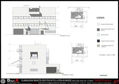 Elaboration project, villa Stein de Monzie, Le Corbusier, Garches, Francesco Andreozzi