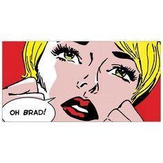 SHEILA B. - Oh Brad ! (138x70 cm / 100x50) cm #artprints #interior #design #art #print #cartoon  Scopri Descrizione e Prezzo http://www.artopweb.com/categorie/cartoni/EC17695