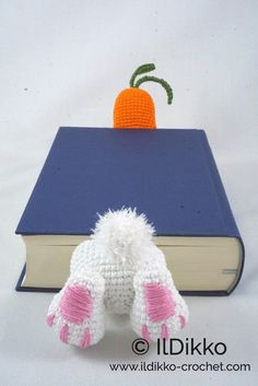 Amigurumi Crochet Pattern Bunny Bookmark English Version