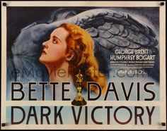 1 of 1 : 2w010 DARK VICTORY 1/2sh 1939 c/u of doomed Bette Davis by statue of Winged Victory, ultra rare!