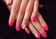 Think pink! Professional Nail Art, How To Do Nails, Gel Nails, Nailart, Finger, Cosmetics, Pink, Beauty, Gel Nail