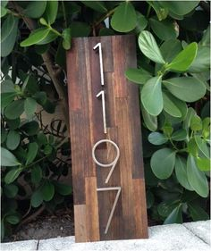 Reclaimed wood home address plaques by MMWoodWrks on Etsy, $65.00