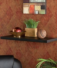 Take a look at this Southern Enterprises Black Aspen Floating Shelf by Southern Enterprises on #zulily