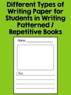 KINDERGARTEN COMMON CORE WRITING UNIT 3 {PATTERNED BOOKS} - TeachersPayTeachers.com
