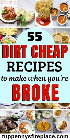 Healthy, easy cheap recipes for your family or for two. Check out all these fantastically frugal recipes. Whether you want keto, vegetarian, vegan or budget recipes for college students, these 55 cheap recipes have got you covered. for dinner for two Cheap Healthy Dinners, Cheap Easy Meals, Frugal Meals, Frugal Recipes, Inexpensive Meals, Meals On A Budget, Cheap College Meals, Cheap Meals For Two, Dirt Cheap Meals