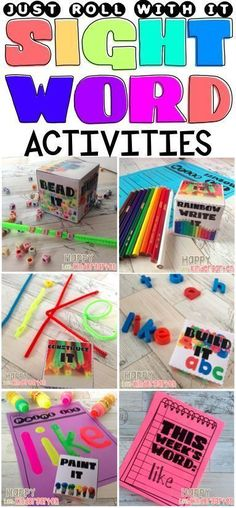 ONE TIME PREP SIGHT WORD ACTIVITIES FOR TH ENTIRE YEAR! Just Roll With It! Sight Word Activities for Fast Finishers!