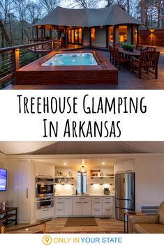 bucket list ideas Love camping Try glamping. This treehouse in the Arkansas woods comes with countless amenities. Its great for a girls trip, romantic getaway, anniversary, and more. The Nest is located in Hot Springs and even includes a hot tub! Vacation Places, Vacation Trips, Dream Vacations, Vacation Spots, Places To Travel, Romantic Vacations, Romantic Travel, Honeymoon Destinations Usa, Romantic Weekend Getaways