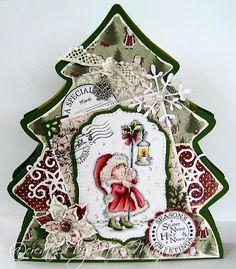 Stempeleinmaleins: Tannenbaum-Geschenktüte/Christmas Tree Gift Bag