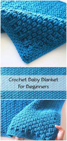 Crochet Beginner Friendly Baby Blanket - - Baby Beginner Blanket Crochet f .Crochet Beginner Friendly Baby Blanket - - Baby Beginner Blanket Crochet f . Knitting Stitches, Baby Knitting, Knitting Patterns, Blanket Patterns, Free Knitting, Crochet Ideas, Easy Knitting Projects, Knitting For Beginners, Amigurumi