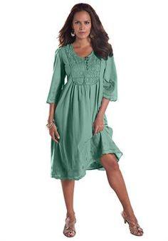 Angel Empire Waist Crochet Dress | Plus Size St. Patrick's Day | Roamans