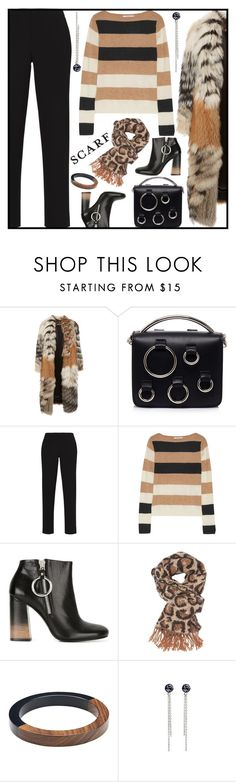 """""""Winter Scarf Style"""" by sweet-designs ❤ liked on Polyvore featuring Roberto Cavalli, MSGM, BCBGMAXAZRIA, MaxMara, McQ by Alexander McQueen, Charlotte Russe and Witchery"""
