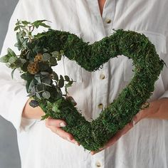 Moss And Eucalyptus Heart Wreath  These moss hearts are completely natural and look effortlessly chic whatever the venue. Whether youre planning a rustic country wedding or a simple and chic city party these letters will add the perfect touch. Find it at @theletterloft  #wreath #wreaths #wreathmaking #wreathmakers #greenerywreath #cozy #rustic #magical #positivevibesonly #decoration #decor #interiors #homemade #homewares #homedecor #backyard #holidays #holidaydecor #custom #holidayseason…