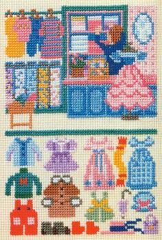 doe-c-doe: 1983 ondori world of cross-stitch book