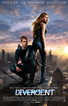 "Divergent Official Poster!  ""Let's put the Character afraid of heights on the highest place we can find.... "" ridiculous. And what's with the pastel colors?Oh well, they tried. And Theo is a handful of handsome, still excited for the movie :)"