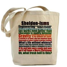 674d3f29f3 Sheldon Quotes Tote Bag on CafePress.com