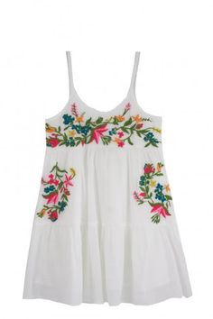 a2ded1012a A beautiful, intricate floral design is colorfully embroidered on the  bodice and skirt of this