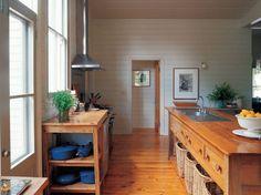 Gorgeous hardwood country kitchen