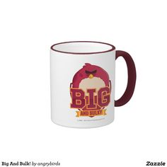 Angry Birds - Big And Bulk! Ringer Coffee Mug. Regalos, Gifts. Producto disponible en tienda Zazzle. Tazón, desayuno, té, café. Product available in Zazzle store. Bowl, breakfast, tea, coffee. Link to product: http://www.zazzle.com/big_and_bulk_ringer_coffee_mug-168407425348914456?design.areas=[zazzle_mug_11_front]&CMPN=shareicon&lang=en&social=true&rf=238167879144476949 #taza #mug