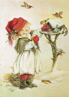 © Lisi Martin: a Spanish artist and illustrator famous for her charming and detailed drawings of children. Lisi Martin was born in Barcelona, Catalonia in Noel Christmas, Vintage Christmas Cards, Christmas Pictures, Vintage Cards, Winter Christmas, Vintage Postcards, Christmas Decoupage, Christmas 2019, Christmas Presents