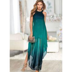 Vestidos Elegante Colorido Longo de Sem magas (1955392199)