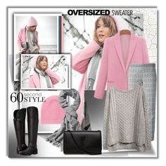 """""""Oversized Sweater"""" by ilona-828 ❤ liked on Polyvore featuring mode, White + Warren, Echo Design Group, Tory Burch, Yves Saint Laurent, Naturalizer, StreetStyle, sweaterweather en polyvoreeditorial"""