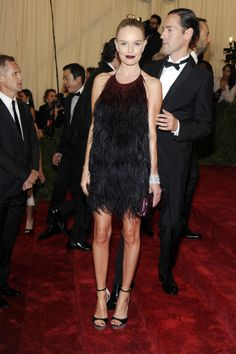 Kate Bosworth went the sultry and feathered Prada route for the 2012 Met Gala.