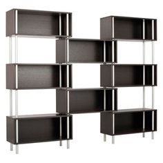 Shop the Chicago 8 Box Shelving Unit by Blu Dot at A modern bookcase that offers the storage options you need without skimping on style. Contemporary Bookcase, Modern Bookcase, Modern Shelving, Chicago Furniture, Modern Furniture, Furniture Decor, Bookcase Storage, Bookshelves, Basement Bar Designs