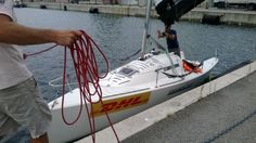 La nostra imbarcazione Este è finalmente in acqua.