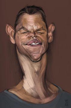 #Caricature: Matt Damon - http://dunway.com/