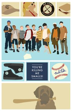 The Sandlot - 11x17 Giclee Print Sandlot Quotes, Movie Quotes, Baseball Birthday Party, Boy Birthday, Birthday Ideas, Movies Showing, Movies And Tv Shows, Benny The Jet Rodriguez, Movies