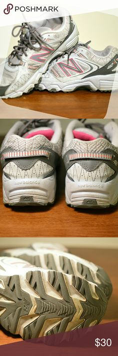 Barely Worn New Balance 412 412 New Balance grey trail runner / running shoes. Excellent used condition. Pink accents. Size 11 XLT Footbed. Smoke-free home. New Balance Shoes Athletic Shoes