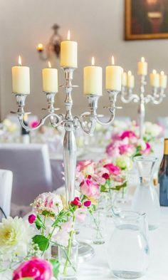 Wedding reception centerpiece idea; Featured Photographer: A Day of Bliss
