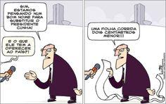 Charge do Lute sobre o presidente interino da Câmara dos Deputados (08/05/2016). #Charge #Lute #Política #PMDB #Cunha #WaldirMaranhão #HojeEmDia