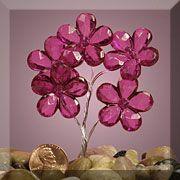 Fuchsia Plastic Crystal Shaped Flowers