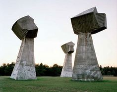 by Jan Kempenaers - photos of Spomenik, abandoned monuments in ex-Yugoslavia, Tito-era. Antigua Yugoslavia, Ex Yougoslavie, Monuments, Brutalist, Abandoned Places, Macedonia, World War Ii, Arches, Statues