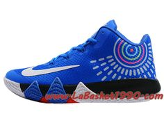 new arrivals 64a5b eea57 Nike Kyrie 4 - Chaussures de Basketball Pas Cher Pour Homme Bleu Blanc Noir
