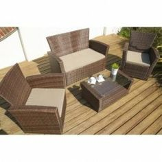 Port Royal Rattan Classic Lounge Sofa Set - Free Delivery UK Mainland - WGF-034 - Garden Furniture