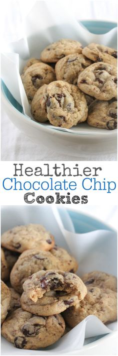 Healthier Chocolate Chip Cookies....less guilt, just as delicious!
