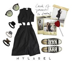 """""""M Y L A B E L"""" by beautifulnoice ❤ liked on Polyvore featuring My Mum Made It, Polaroid, ASOS, Converse and Topshop"""