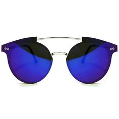 Spitfire Trip Hop Silver/Dark Blue Mirror Sunglasses ($41) ❤ liked on Polyvore featuring accessories, eyewear, sunglasses, silver, mirrored glasses, dark blue sunglasses, spitfire glasses, silver lens sunglasses and silver glasses