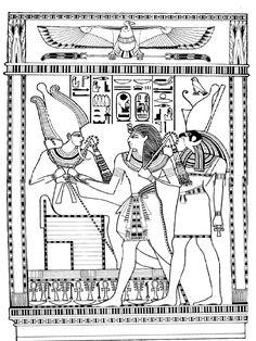 Top 10 Ancient Egypt Coloring Pages For Toddlers And Egyptian Tattoo, Egyptian Art, Coloring Book Pages, Coloring Sheets, Ancient Egypt For Kids, Ancient Aliens, Ancient Greece, Ancient Civilizations, Art Plastique